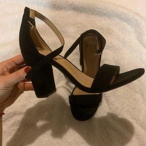 Sophisticated Black Strap Heels